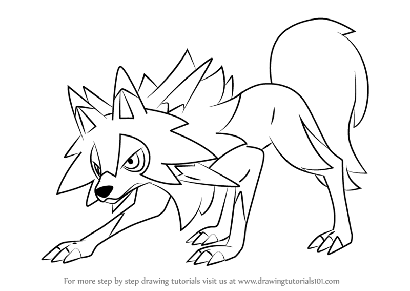 Learn How to Draw Lycanroc Midday