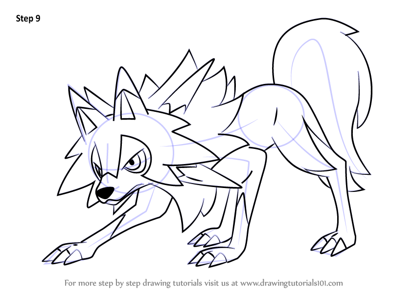 Learn How To Draw Lycanroc Midday Form From Pokemon Sun