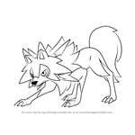 How to Draw Lycanroc - Midday Form from Pokemon Sun and Moon