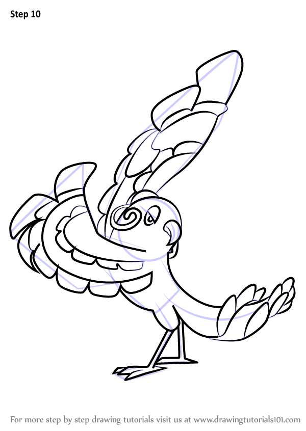 Learn How To Draw Oricorio Baile Style From Pokemon Sun