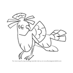 How to Draw Oricorio - Sensu Style from Pokemon Sun and Moon