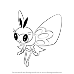 How to Draw Ribombee from Pokemon Sun and Moon