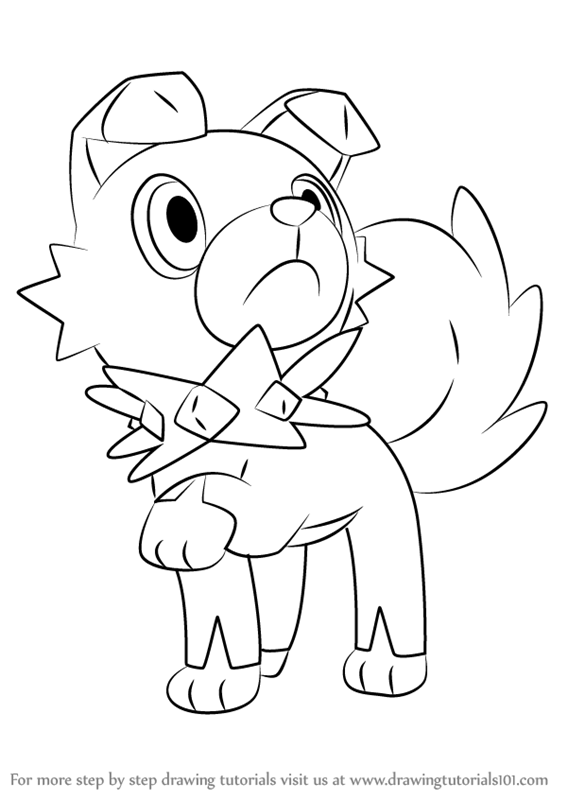 Learn How to Draw Rockruff from