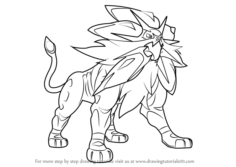 Learn How To Draw Solgaleo From Pokemon Sun And Moon