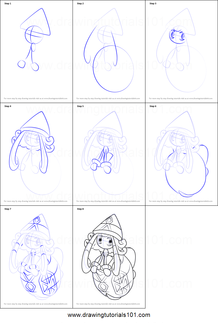 How to Draw Tapu Lele from Pokemon