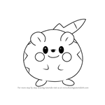 How to Draw Togedemaru from Pokemon Sun and Moon