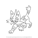 How to Draw Torracat from Pokemon Sun and Moon