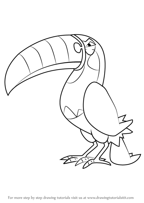 how to draw toucannon from pokemon sun and moon