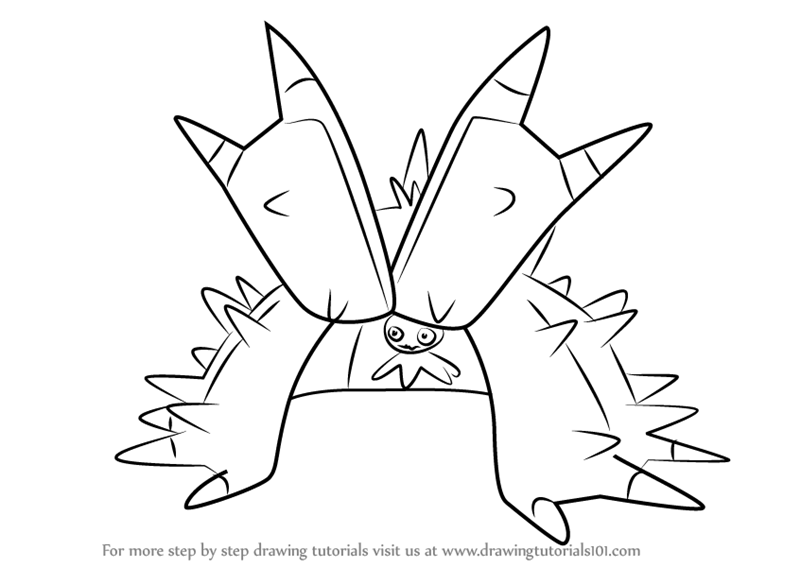 how to draw toxapex from pokemon sun and moon