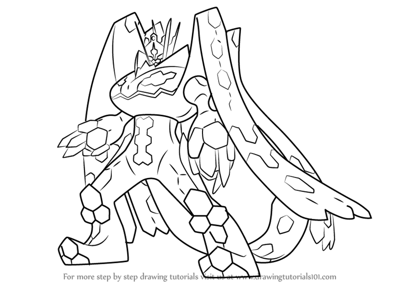 Learn How To Draw Zygarde Complete Forme From Pokemon Sun