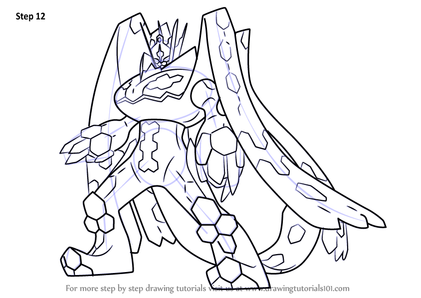 Step by Step How to Draw Zygarde Complete Forme from ...