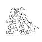How to Draw Zygarde Complete Forme from Pokemon Sun and Moon