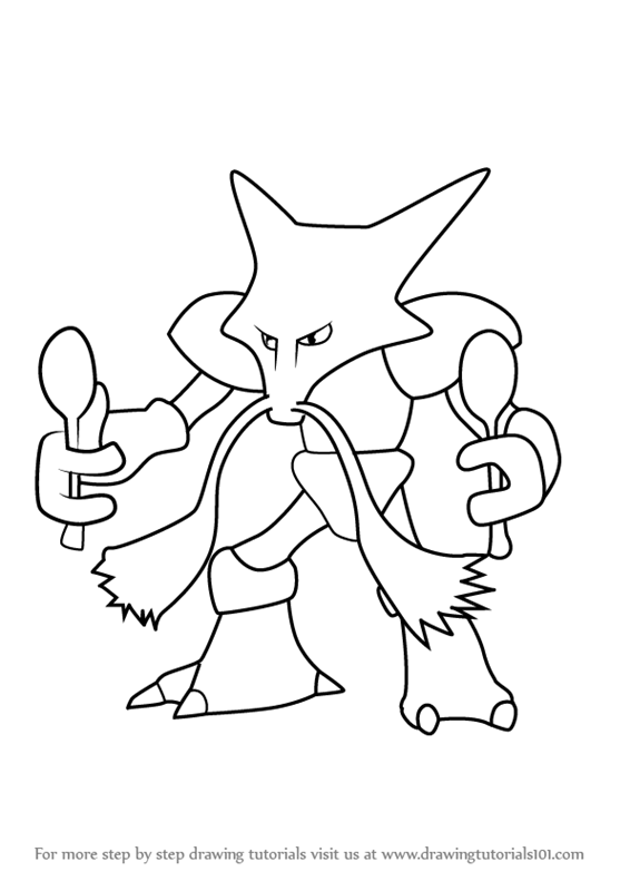 Learn How To Draw Alakazam From Pokemon GO Pokemon GO