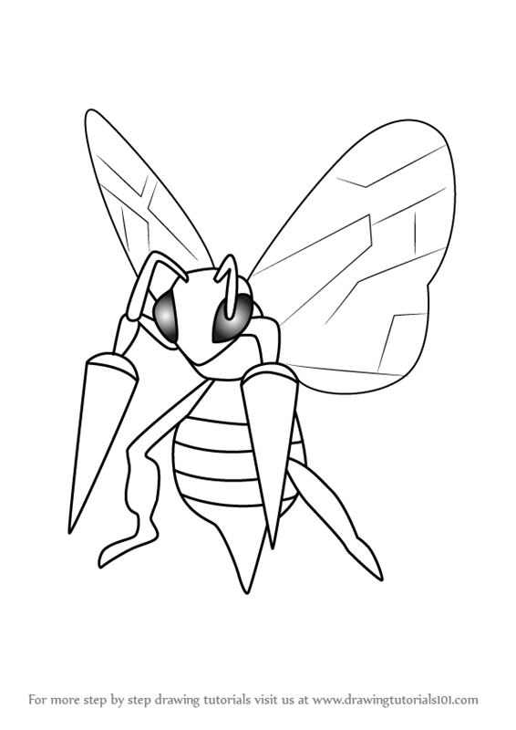Learn How To Draw Beedrill From Pokemon Go Pokemon Go