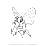 How to Draw Beedrill from Pokemon GO