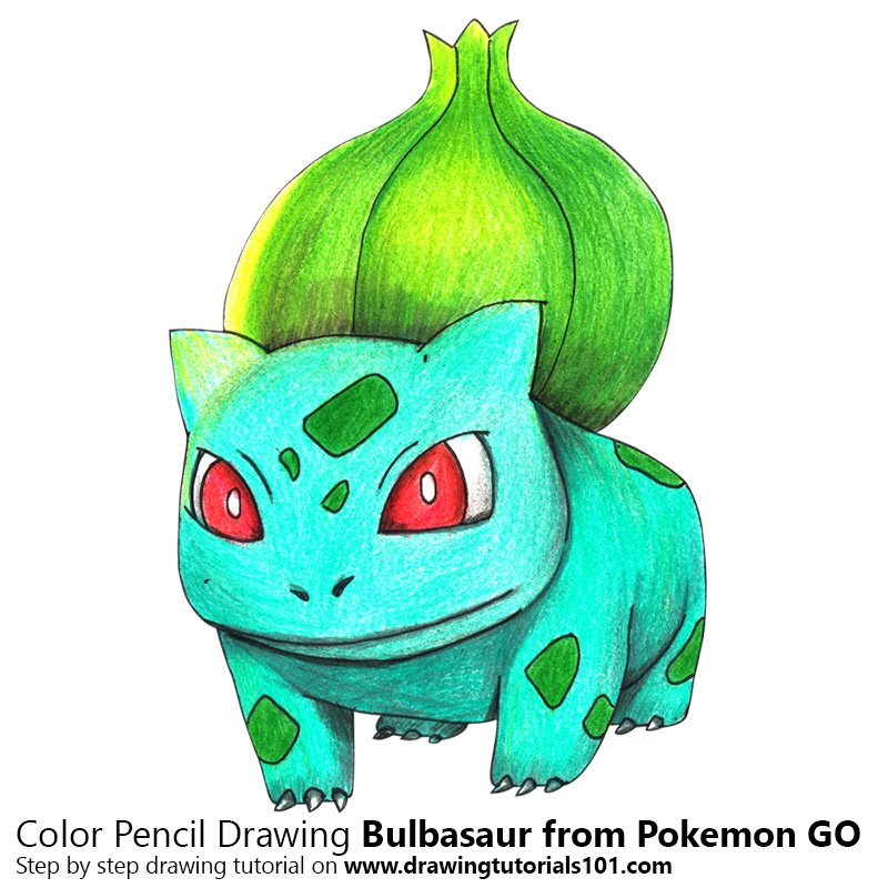 Bulbasaur from Pokemon GO Colored Pencils - Drawing ...