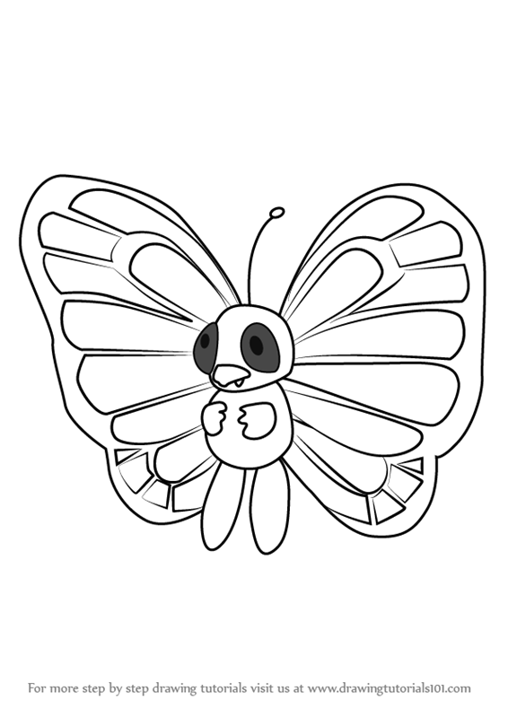 Learn How to Draw Butterfree from