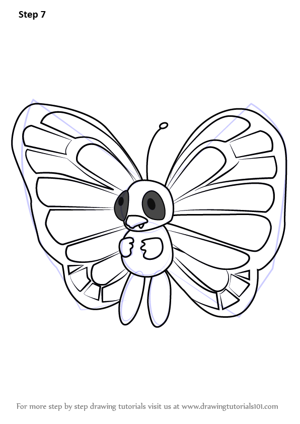 Learn How To Draw Butterfree From Pokemon Go Pokemon Go