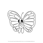 How to Draw Butterfree from Pokemon GO