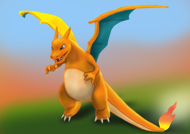 how to draw charzard easy