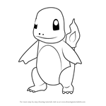 How to Draw Charmander from Pokemon GO
