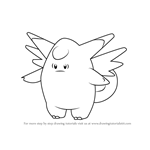 How to Draw Clefable from Pokemon GO