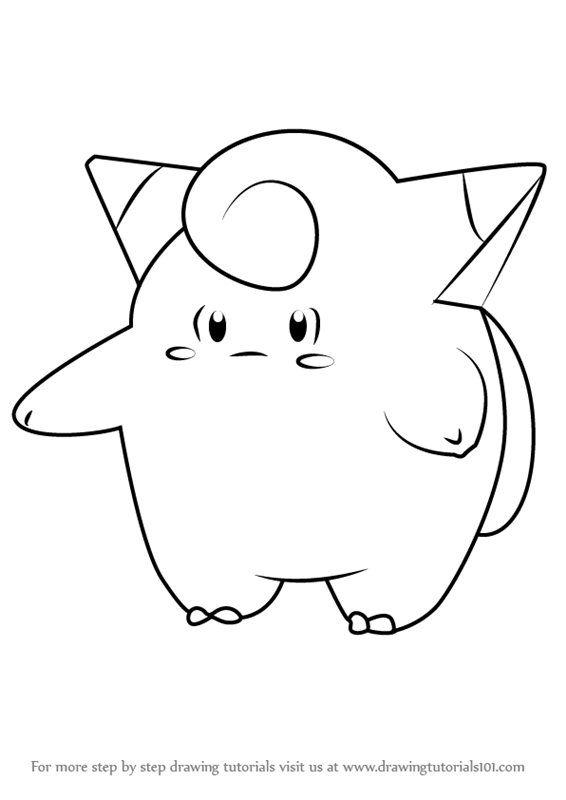 Learn How To Draw Clefairy From Pokemon Go Pokemon Go