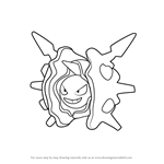 How to Draw Cloyster from Pokemon GO