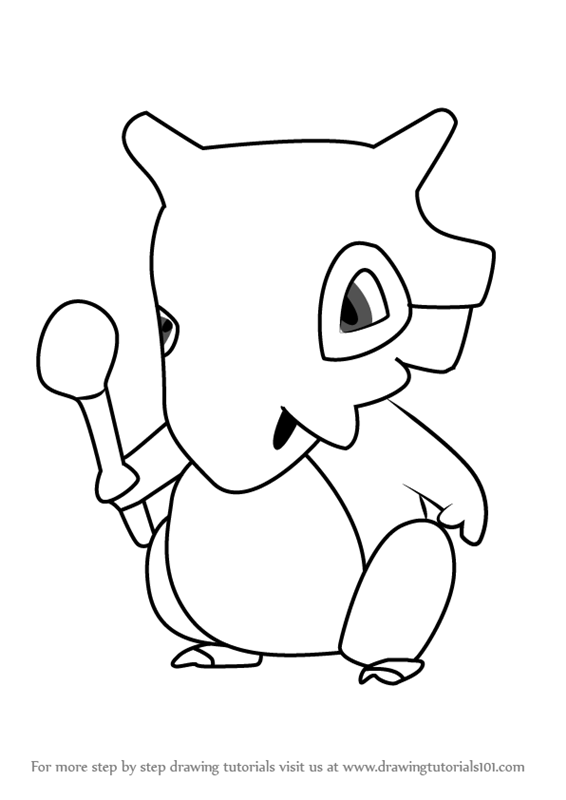 Learn How to Draw Cubone from Pokemon