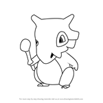 How to Draw Cubone from Pokemon GO