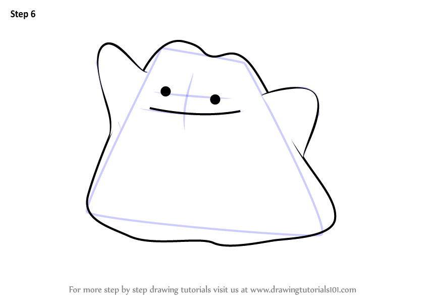 Learn How To Draw Ditto From Pokemon Go Pokemon Go Step