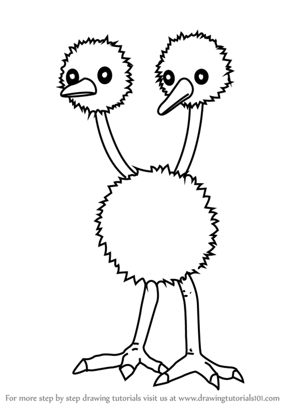 Learn How to Draw Doduo from Pokemon