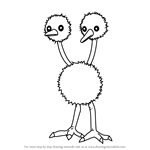 How to Draw Doduo from Pokemon GO