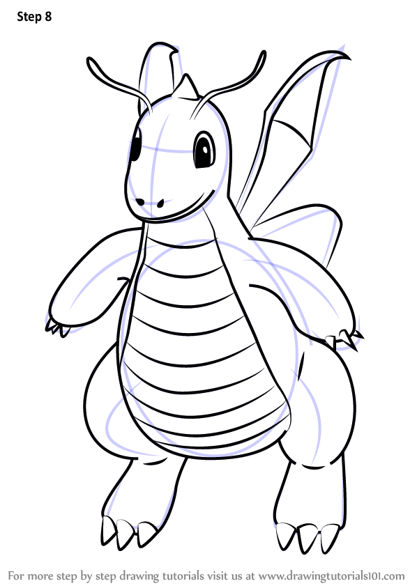 Learn How to Draw Dragonite from Pokemon GO (Pokemon GO