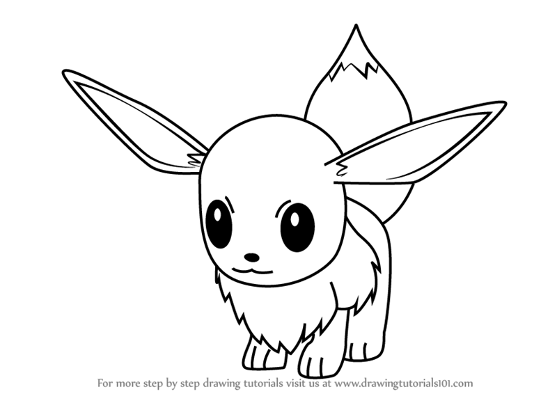 Learn How To Draw Eevee From Pokemon GO (Pokemon GO) Step
