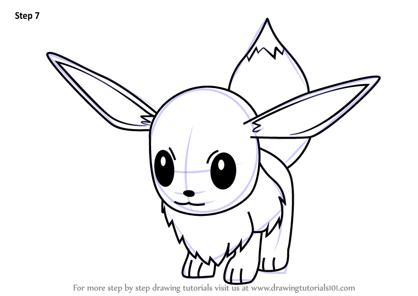 Learn How To Draw Eevee From Pokemon Go Pokemon Go Step