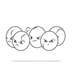 How to Draw Exeggcute from Pokemon GO