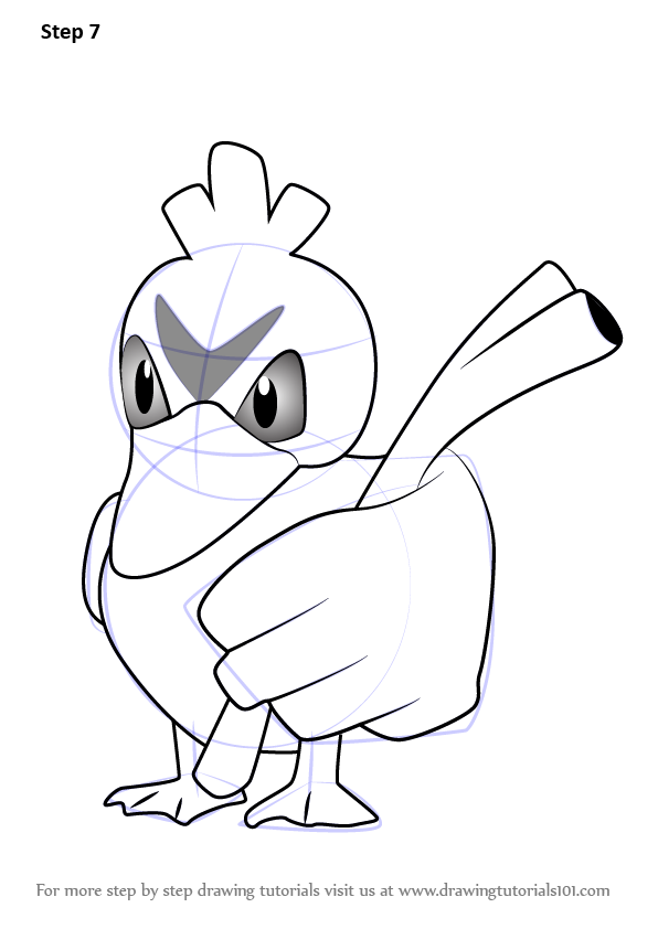 Step By Step How To Draw Farfetch D From Pokemon Go