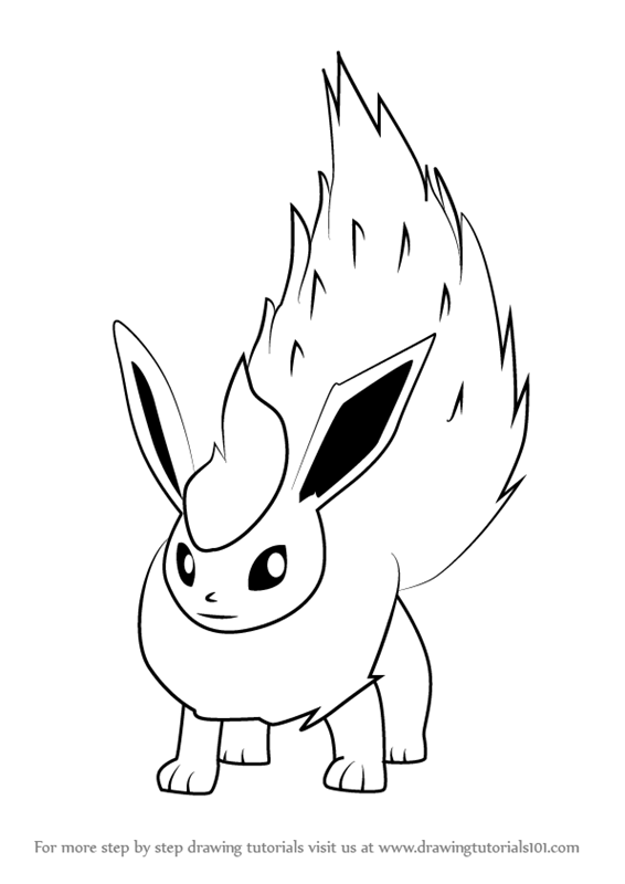 Learn How To Draw Flareon From Pokemon Go Pokemon Go