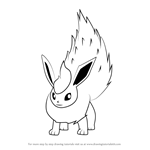 How to Draw Flareon from Pokemon GO