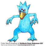How to Draw Golduck from Pokemon GO