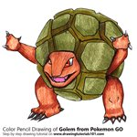 How to Draw Golem from Pokemon GO