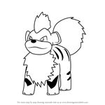 How to Draw Growlithe from Pokemon GO