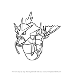 How to Draw Gyarados from Pokemon GO
