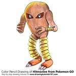 How to Draw Hitmonlee from Pokemon GO