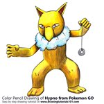 How to Draw Hypno from Pokemon GO