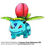 How to Draw Ivysaur from Pokemon GO