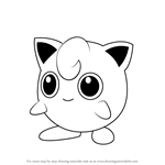 How to Draw Jigglypuff from Pokemon GO