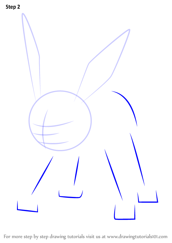 how to draw jolteon step by step