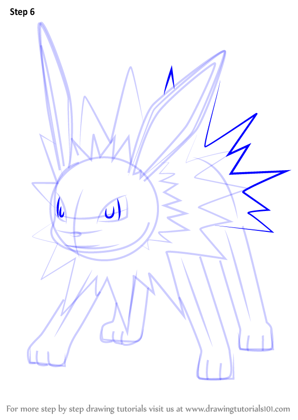 Learn How To Draw Jolteon From Pokemon Go Pokemon Go